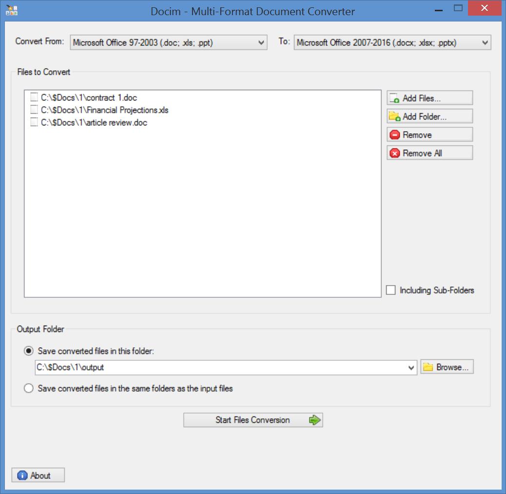 Docim - Batch Multi-Format Document Converter