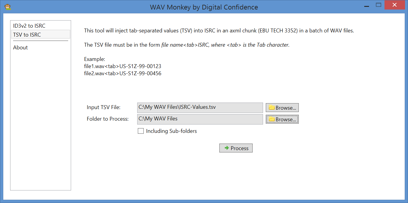 Screenshot of WAV Monkey